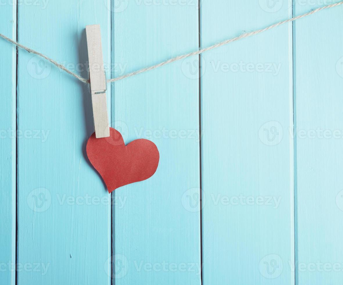 coeur rouge en papier photo