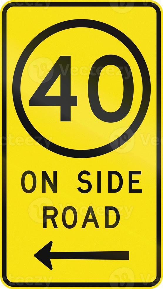 limite de vitesse sur route secondaire photo