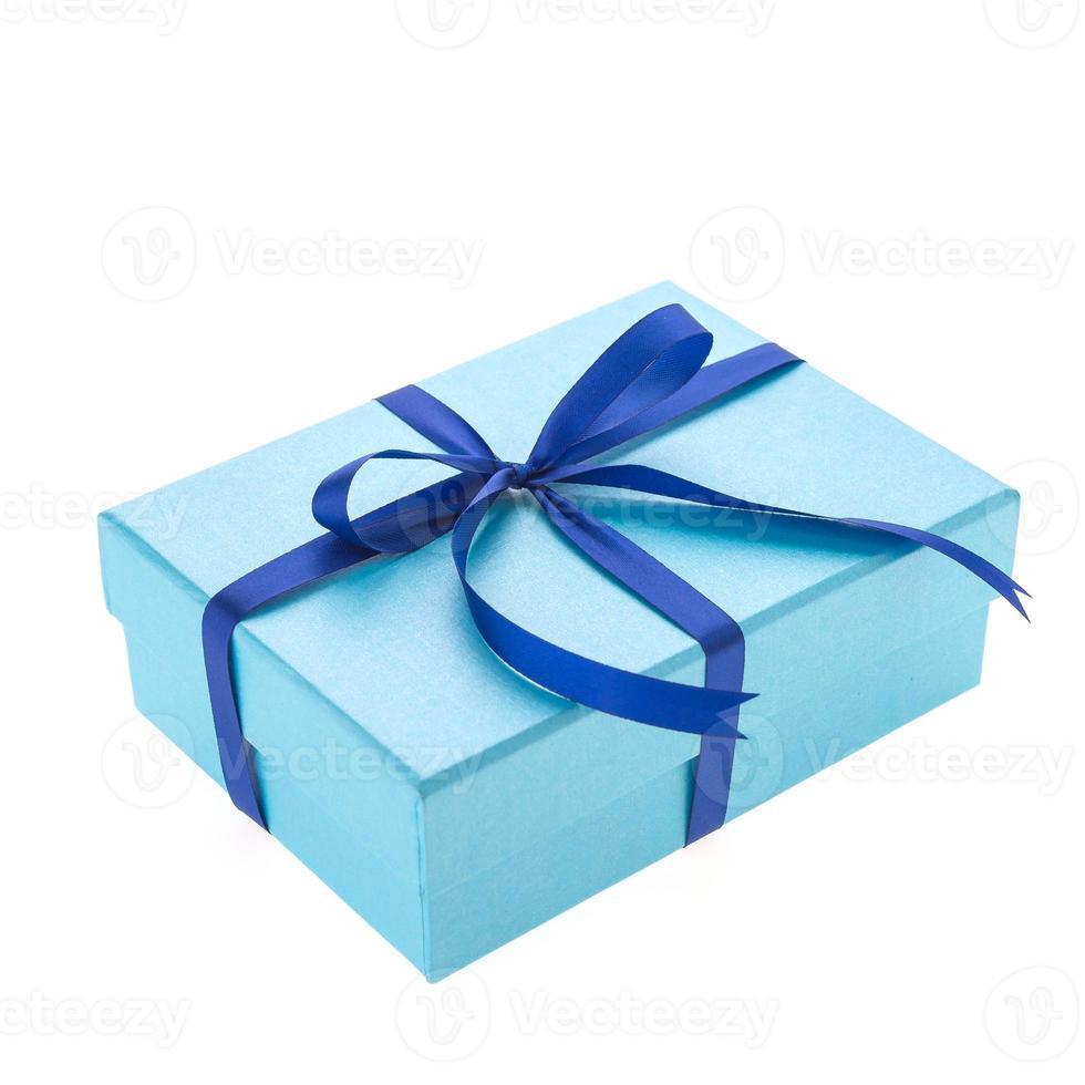 coffret cadeau bleu photo