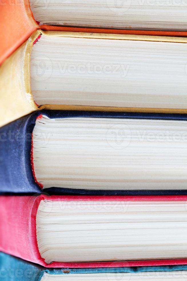 livres colorés. photo