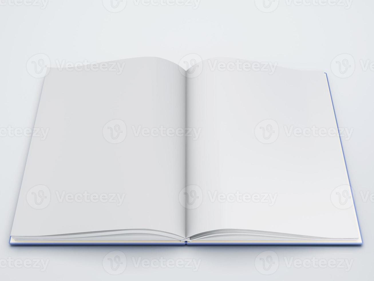 livre ouvert avec des pages blanches 3d photo