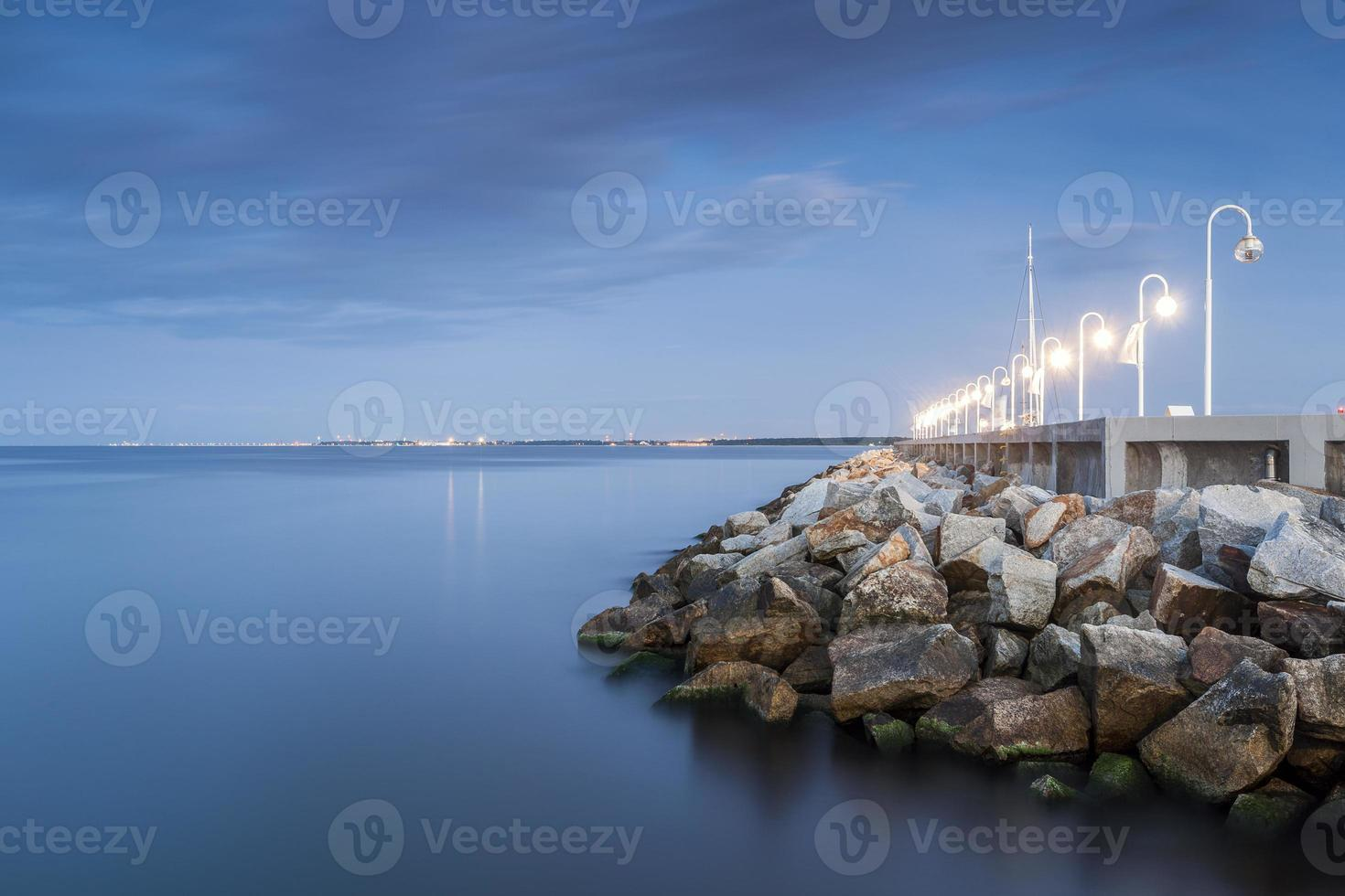 le bord de la mer baltique photo