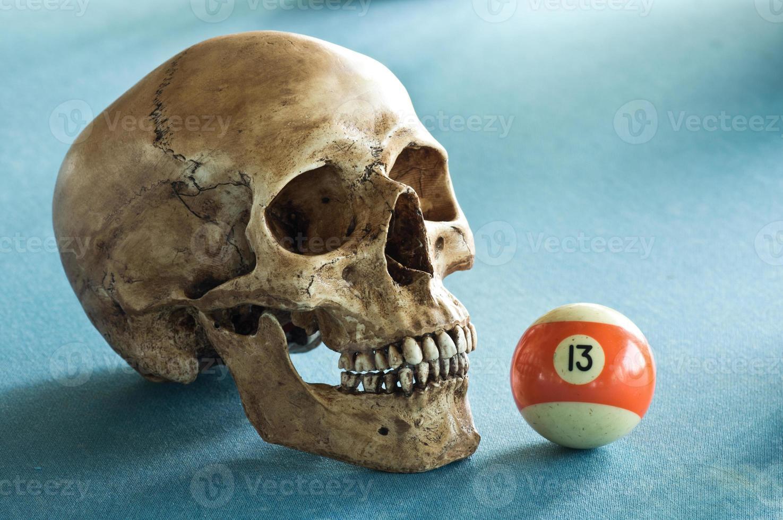 crâne avec numéro 13 photo
