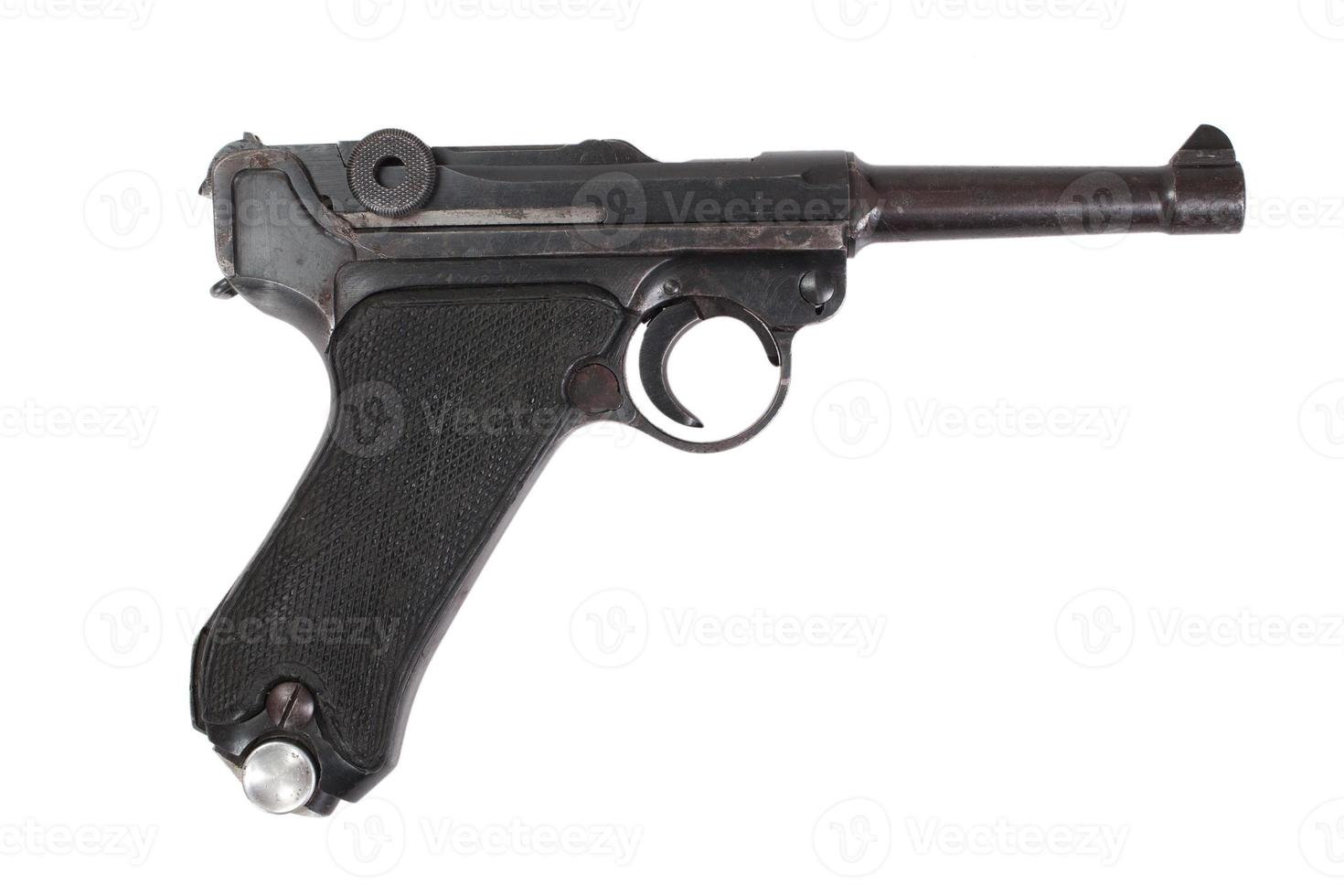 Luger p08 parabellum pistolet isolé photo