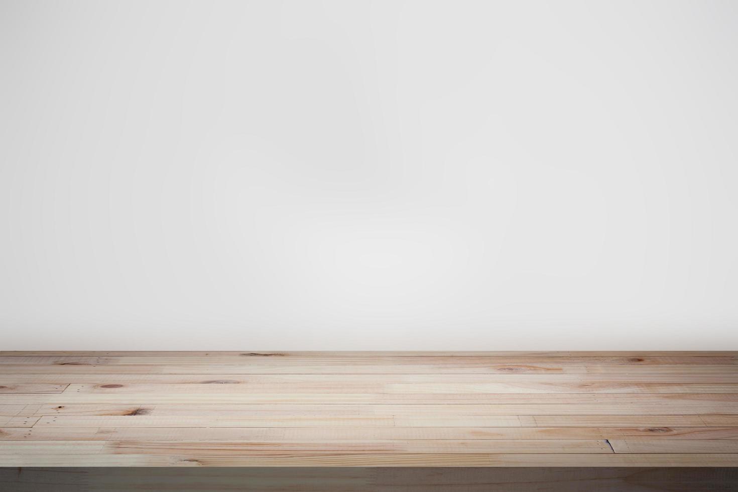 plateau de table avec fond vide photo