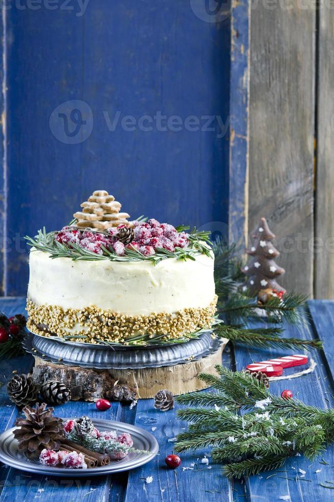gâteau de pain d'épice de Noël photo