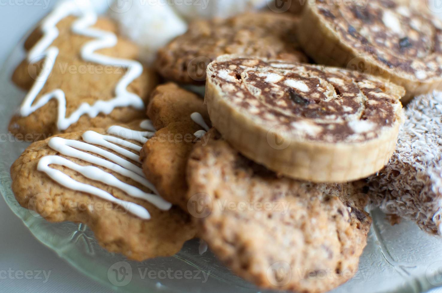 assiette de biscuits de Noël. photo
