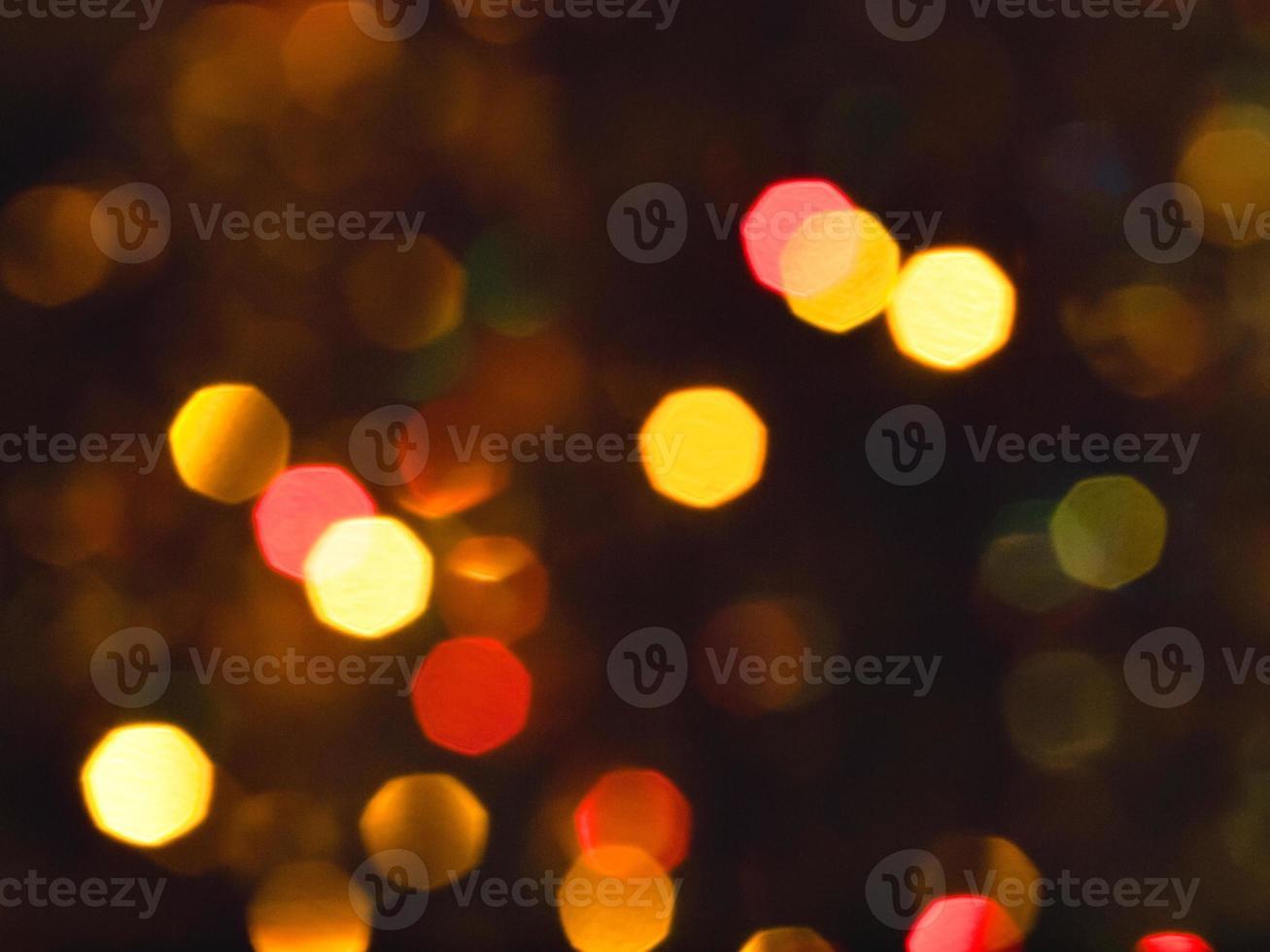fond de lumières de noël défocalisé photo