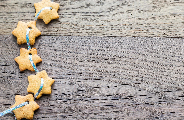 guirlande d'étoiles en pain d'épice photo