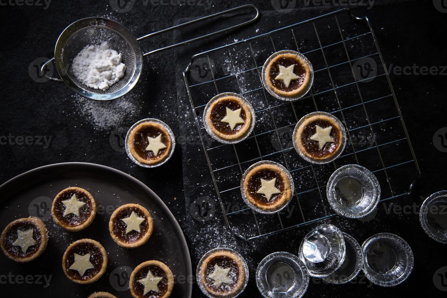 tarte hachée de Noël traditionnelle photo