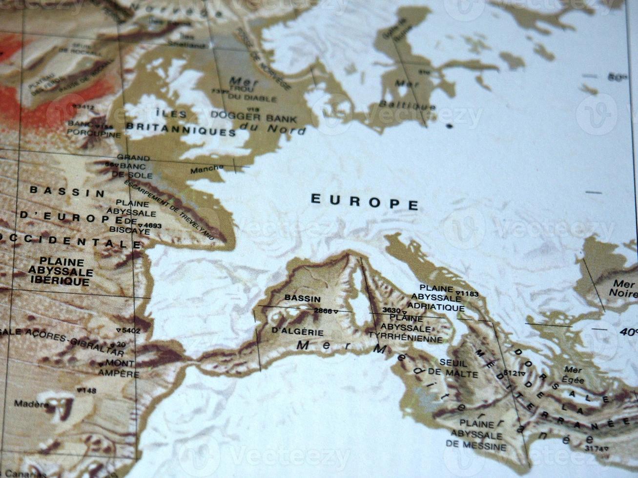 carte géologique de l'europe photo