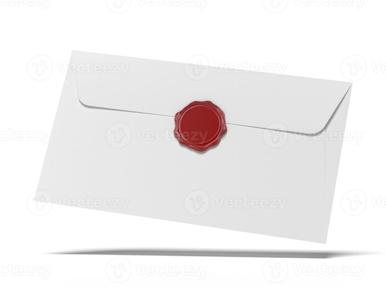 enveloppe avec presse à cire photo