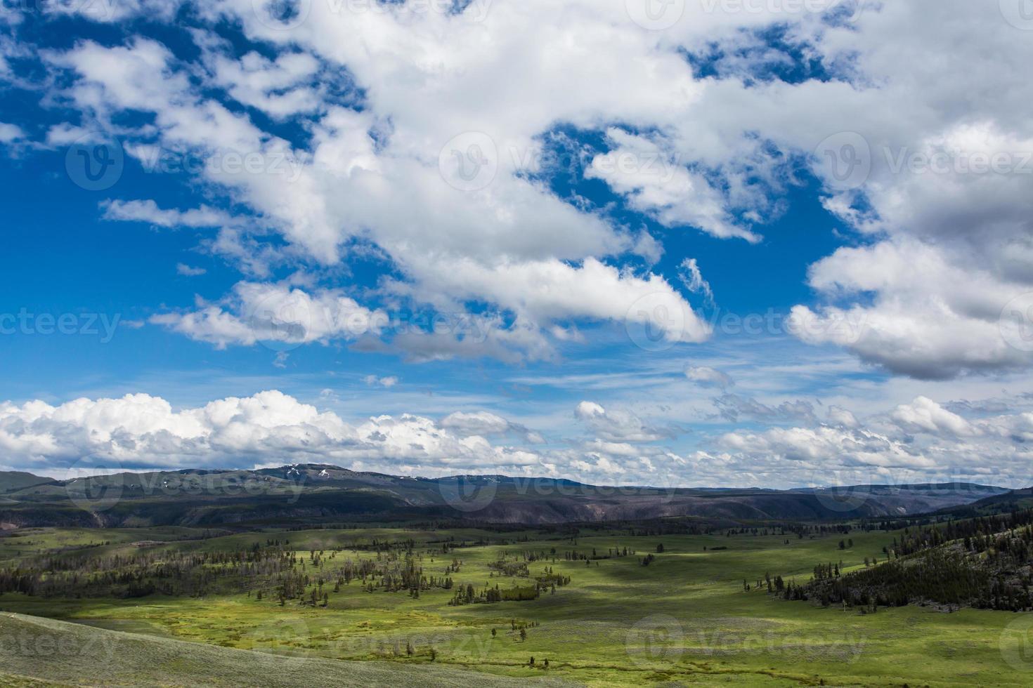 Panorama du parc national de Yellowstone photo