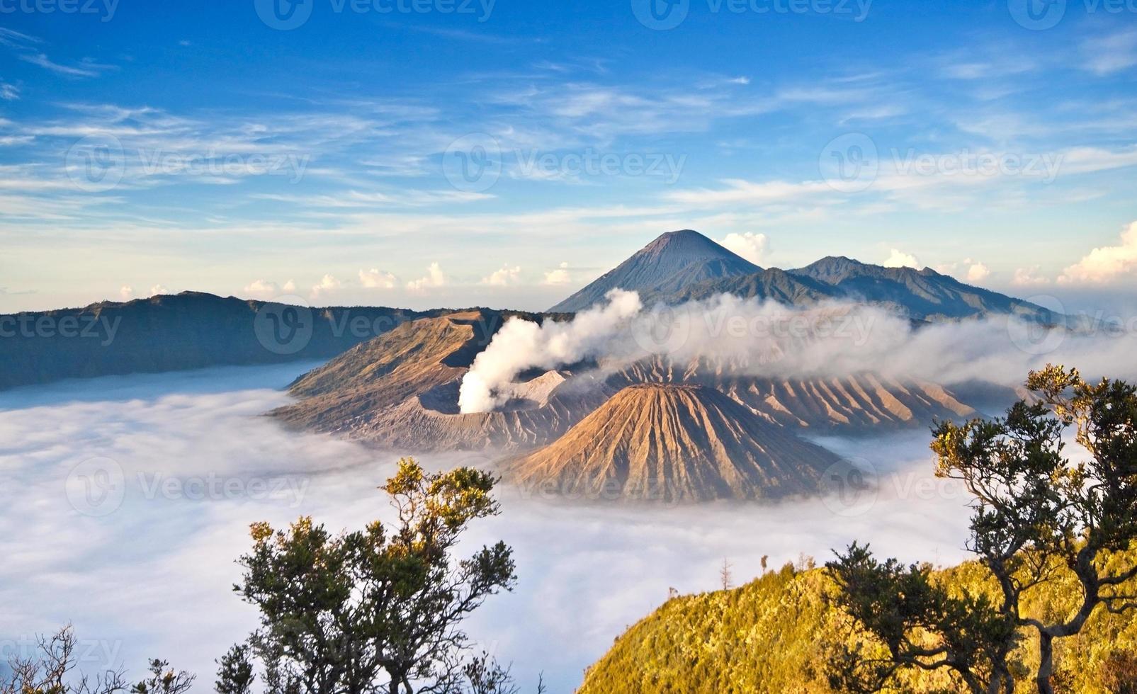 montagne bromo dans le parc national de tengger semeru photo