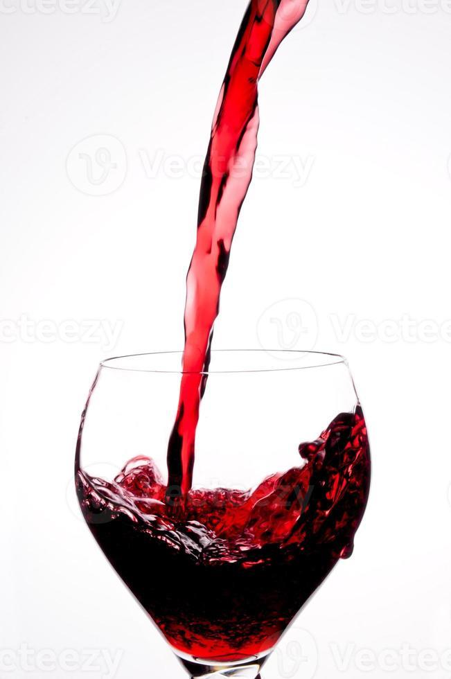 vin rouge verser photo