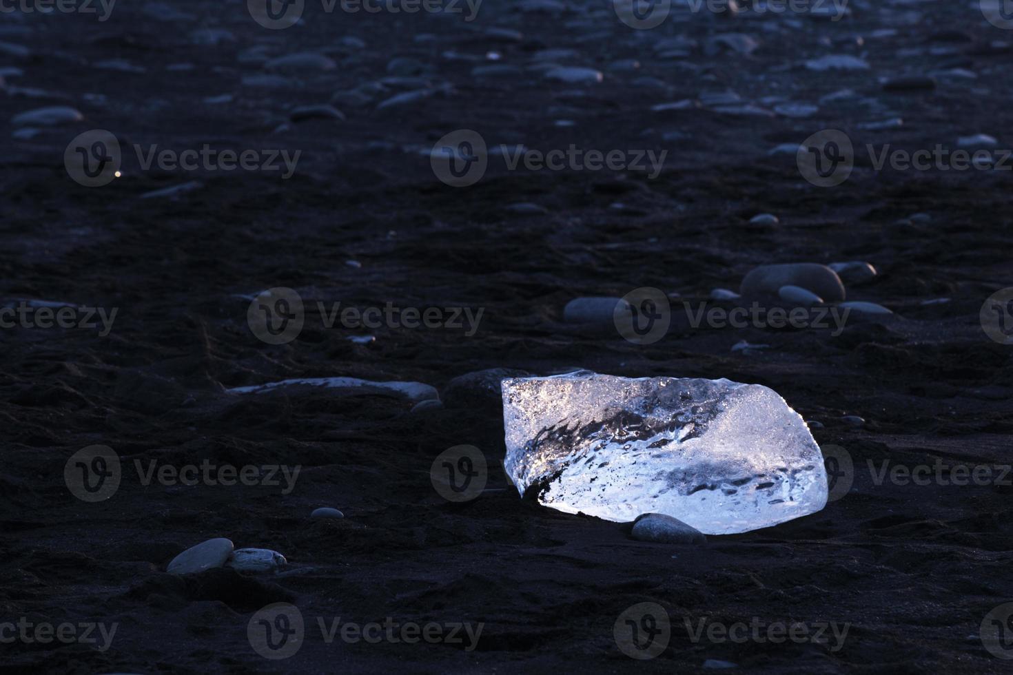Plage de glace de Jokulsarlon en Islande photo