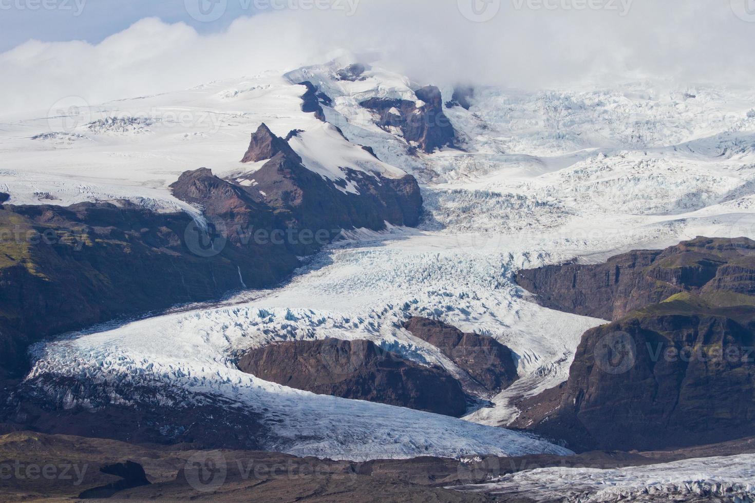 glacier islandais de vatnajokull photo