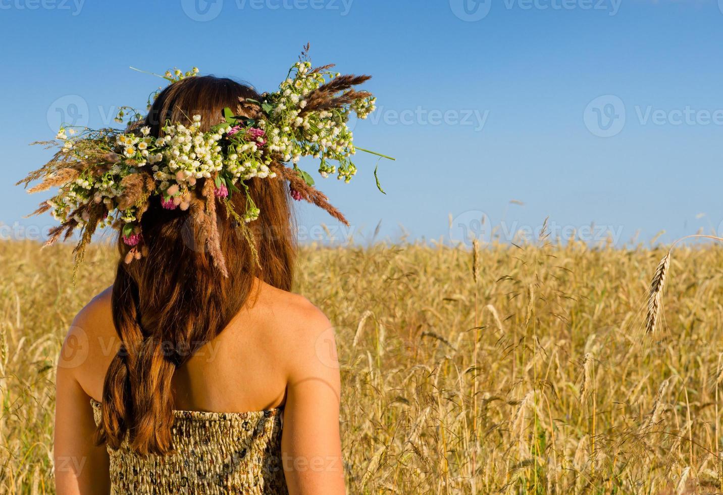 couronne de fille de moulin photo