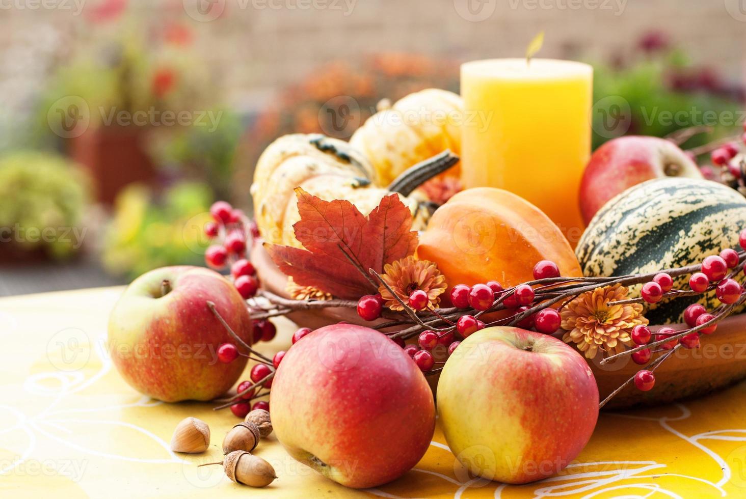 décor de jardin d'automne photo