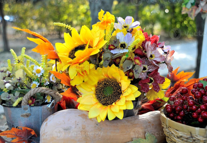 bouquet d'automne, décoration d'automne colorée photo