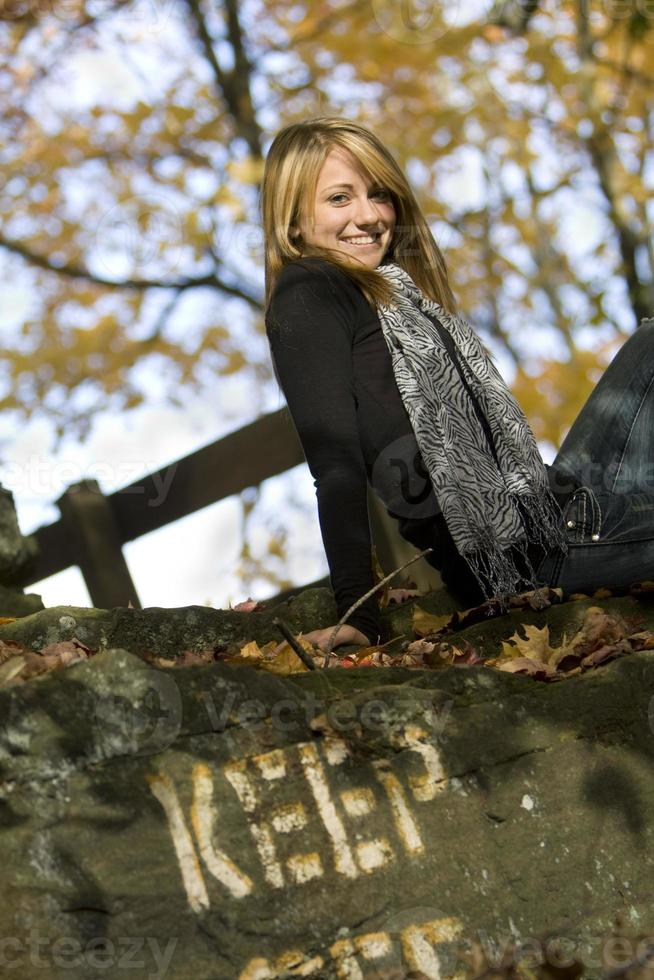 fille d'automne photo