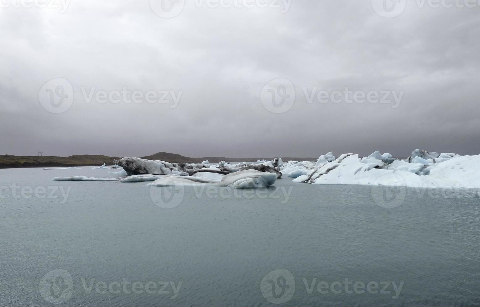 paysages d'icebergs côtiers photo