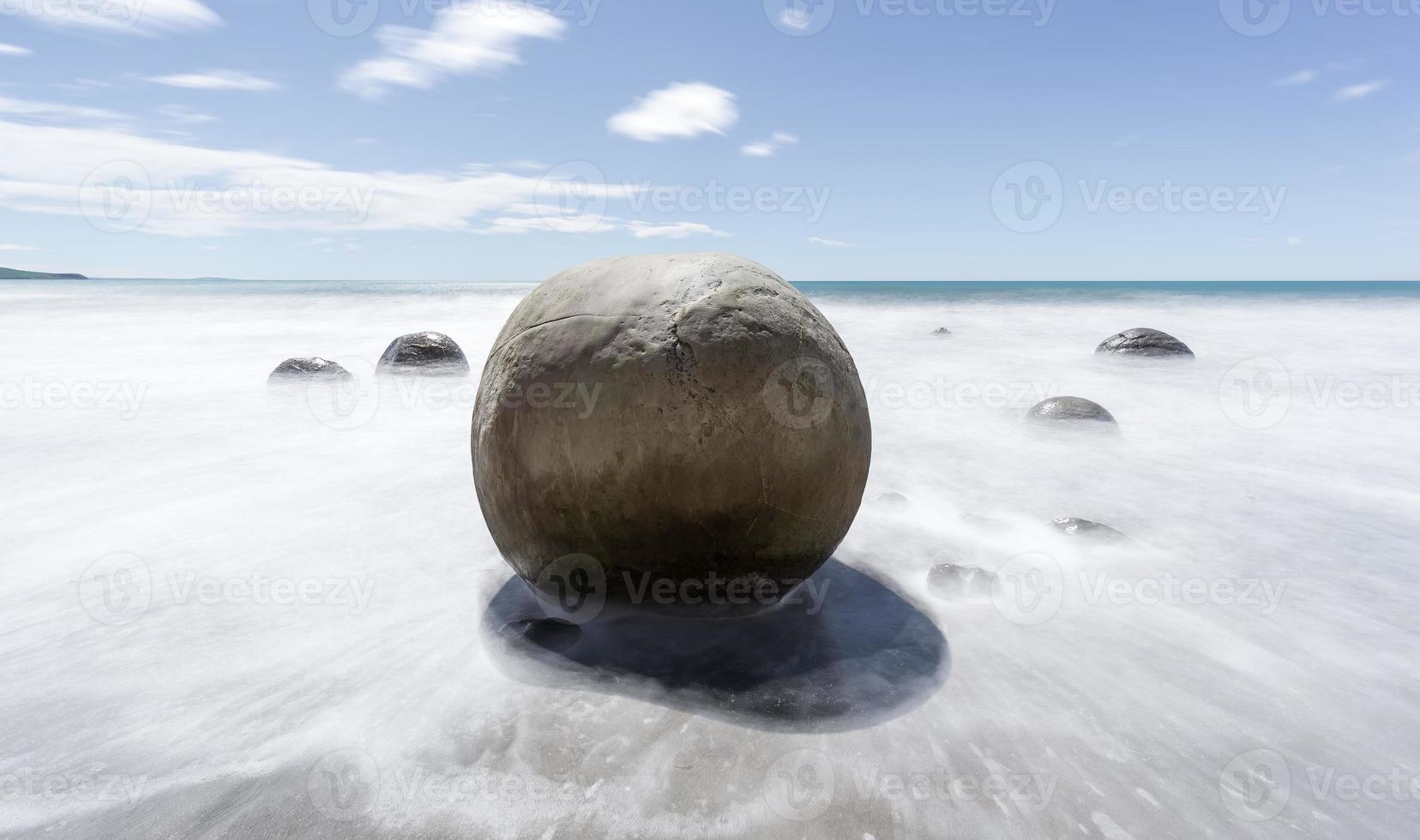 moeraki boulders doux photo