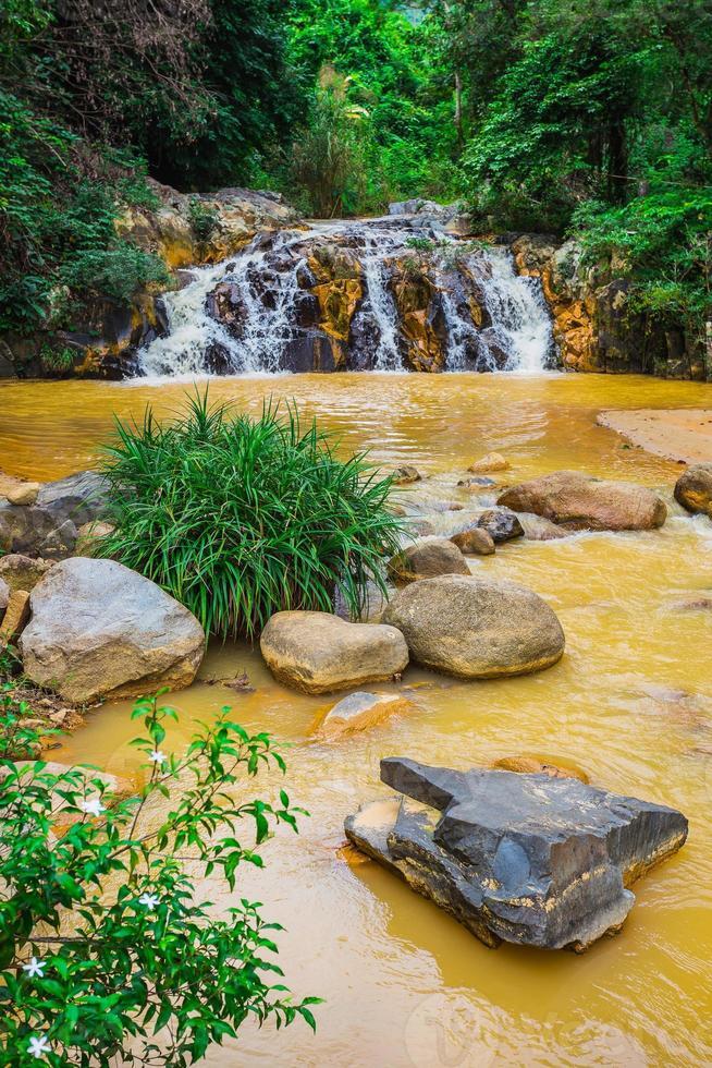 Les environs de la cascade de la baie de Yang au Vietnam photo