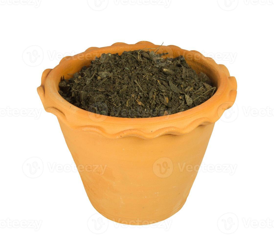 pot de fleur avec terre photo