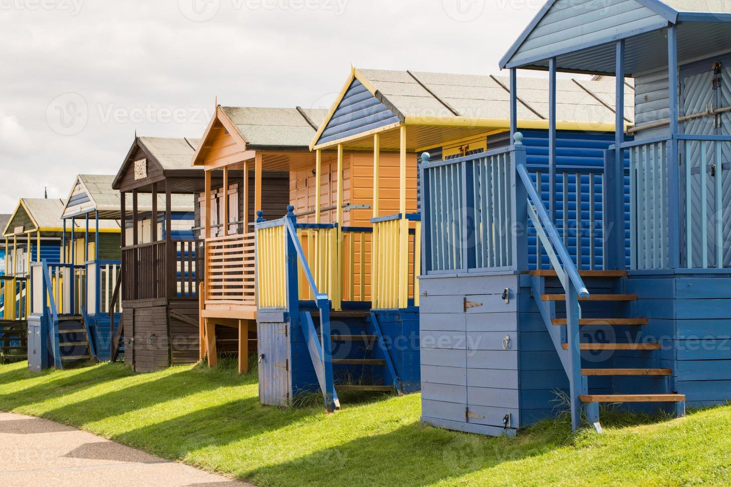 cabines de plage à whitstable photo