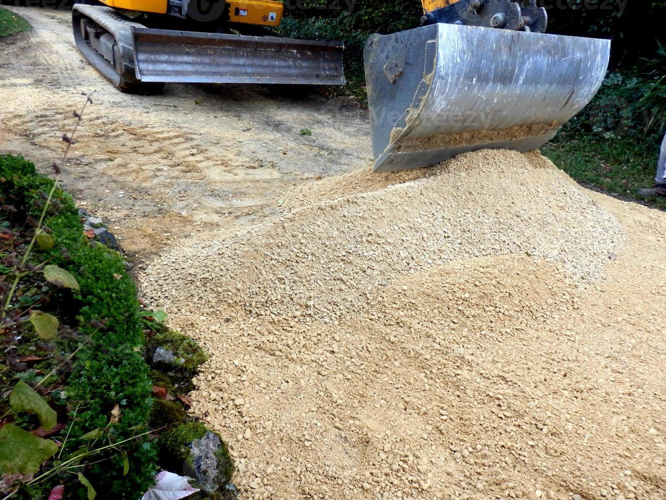 chemin de sable et de gravier photo