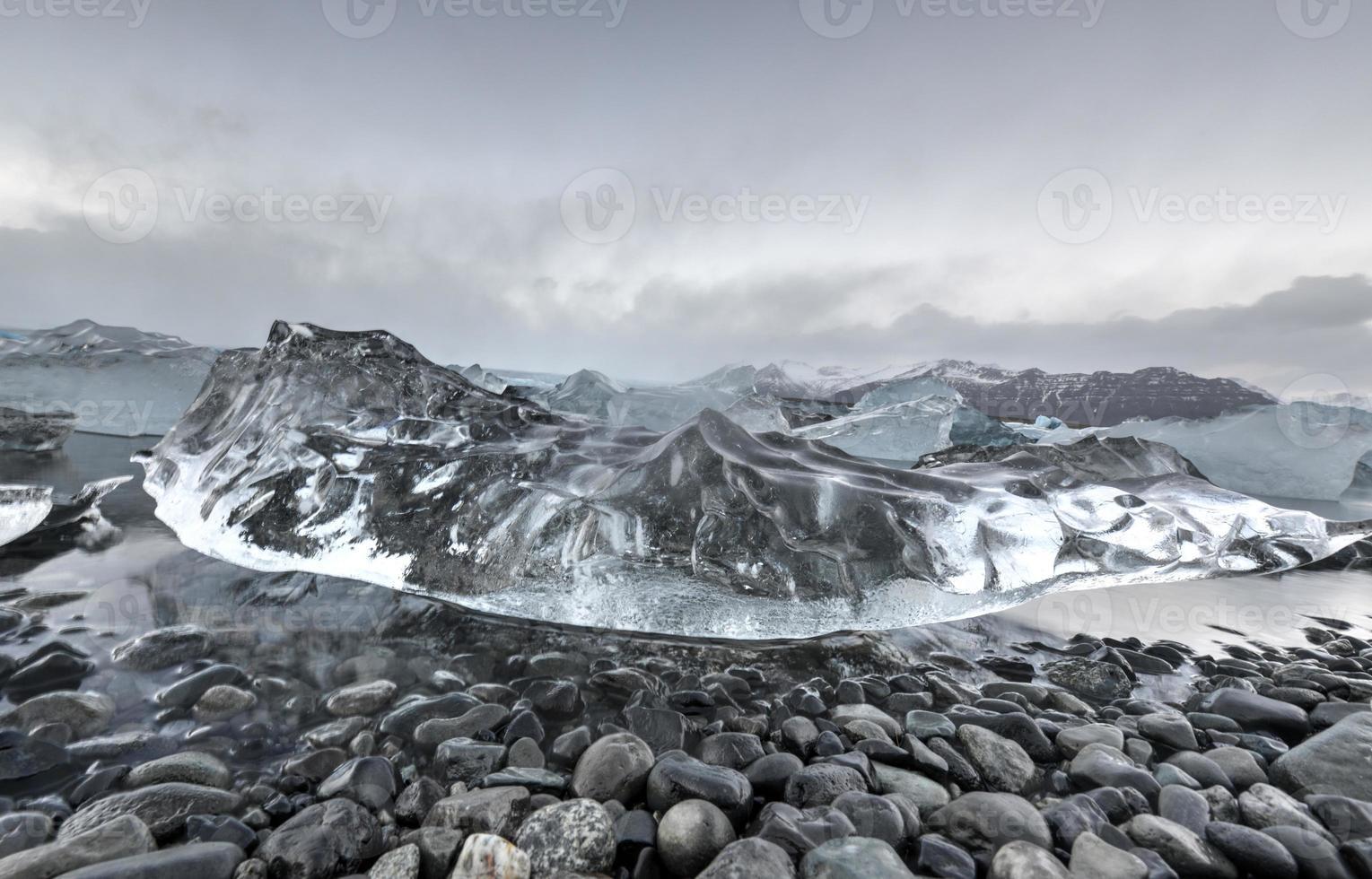 Lagune glaciaire, Jokulsarlon, Islande photo