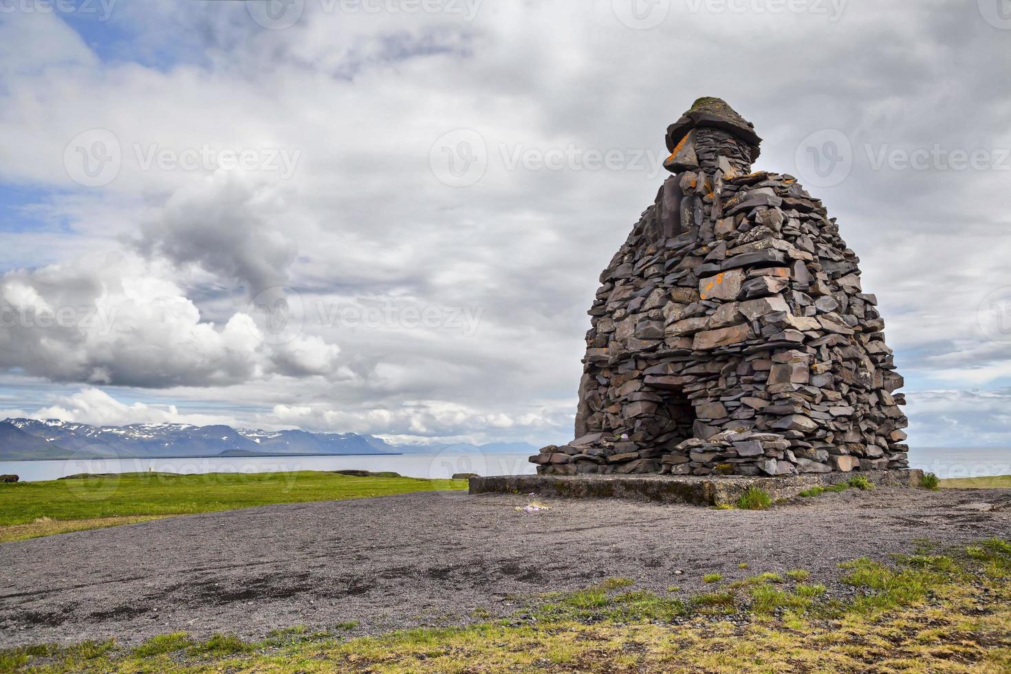 Statue de Bardar Saga Snaefellsnes, Islande photo