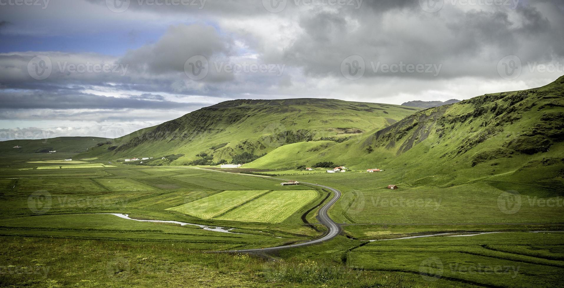 panorama rural de l'Islande photo