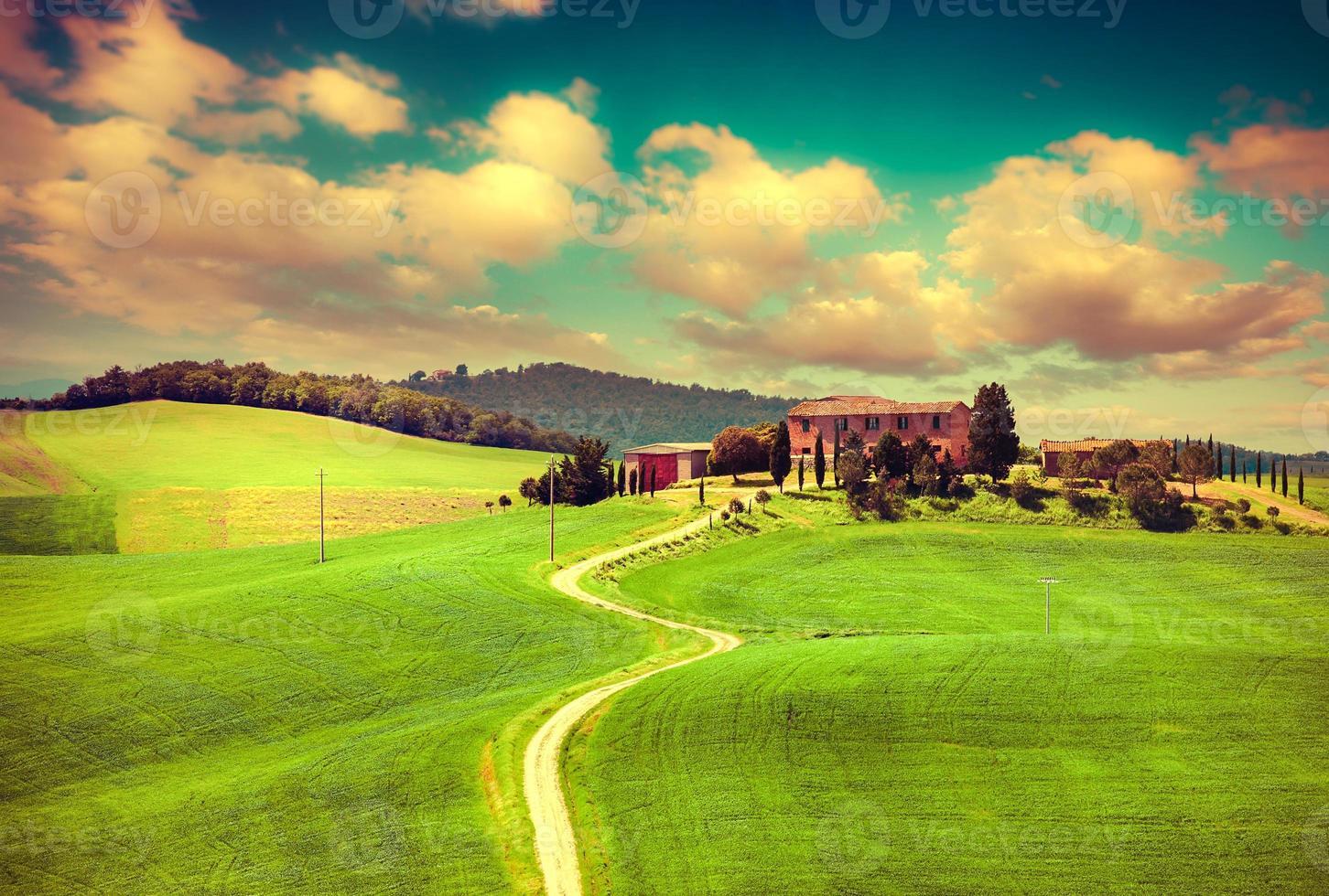 matin à la campagne en toscane photo