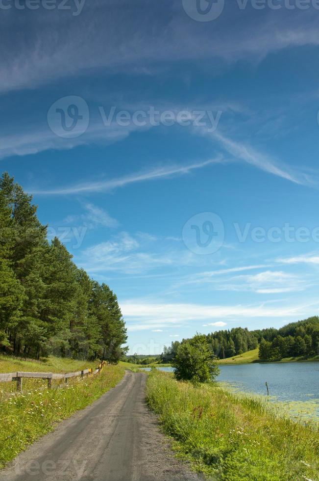 lac noir dans la région suwalki osinki photo