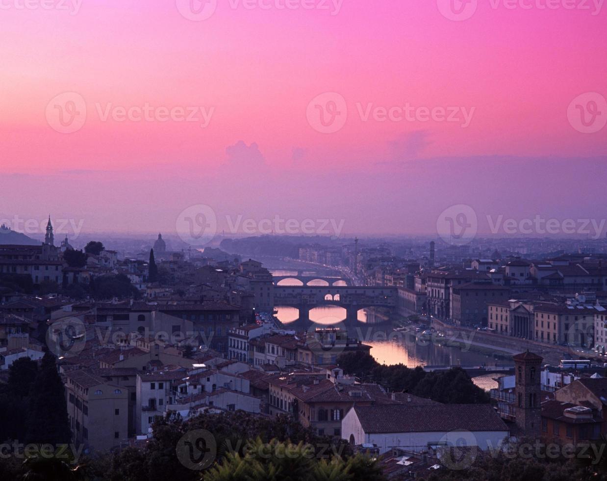 vue sur la ville, florence, italie. photo