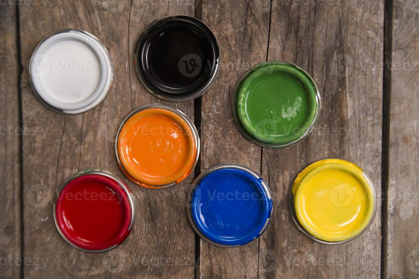 pots de peinture photo