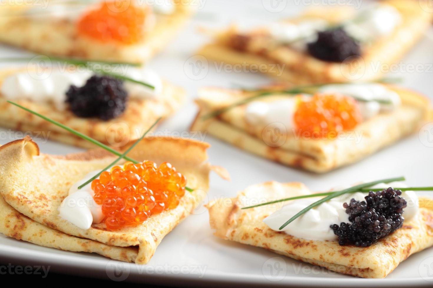 crêpes au caviar photo