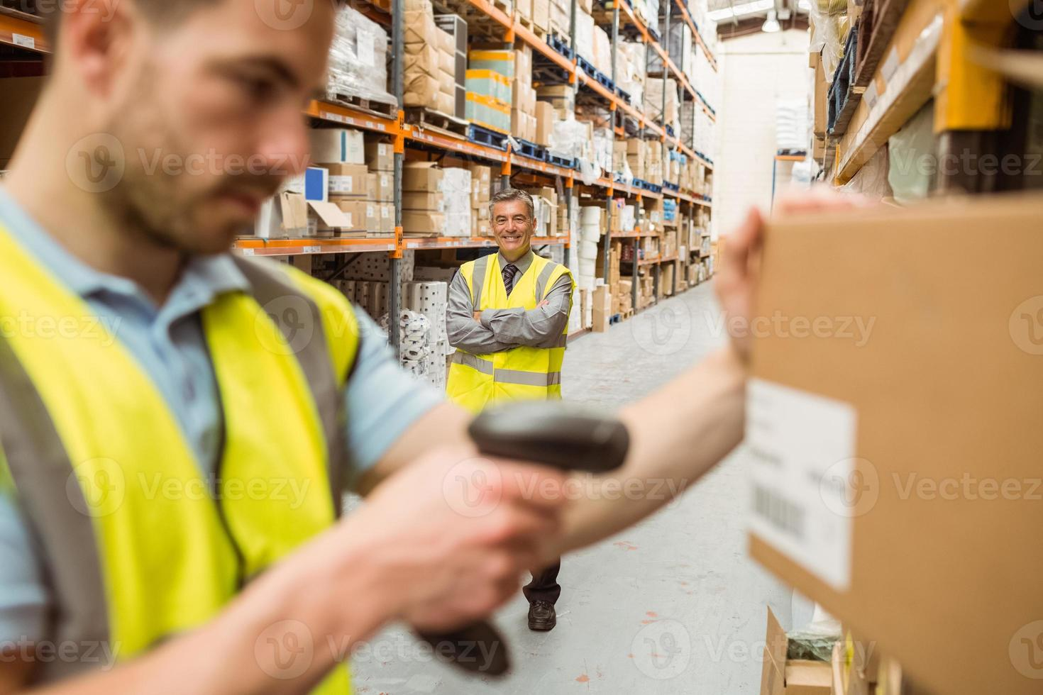 magasinier, scannage, code barres photo
