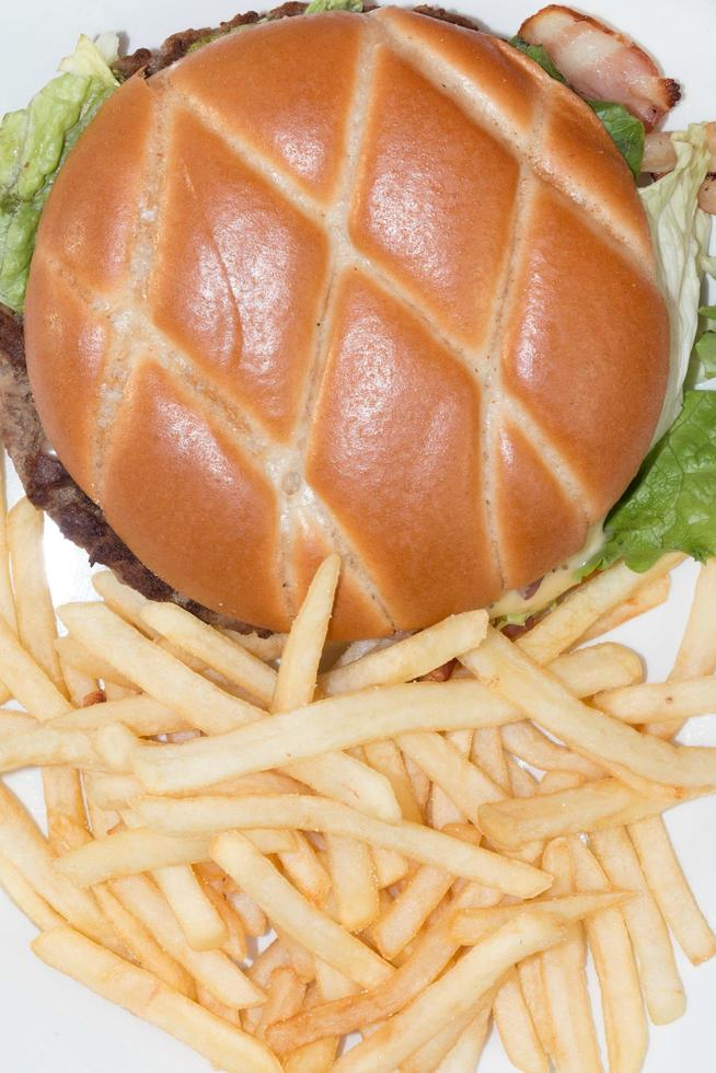 burger et frites photo