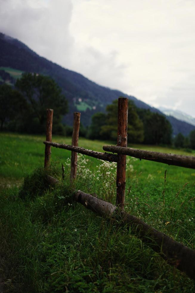poteau de clôture en bois photo