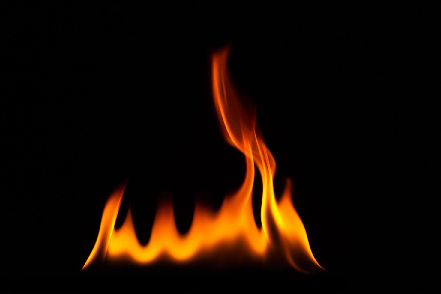 gros plan, de, flamme, sur, fond noir photo