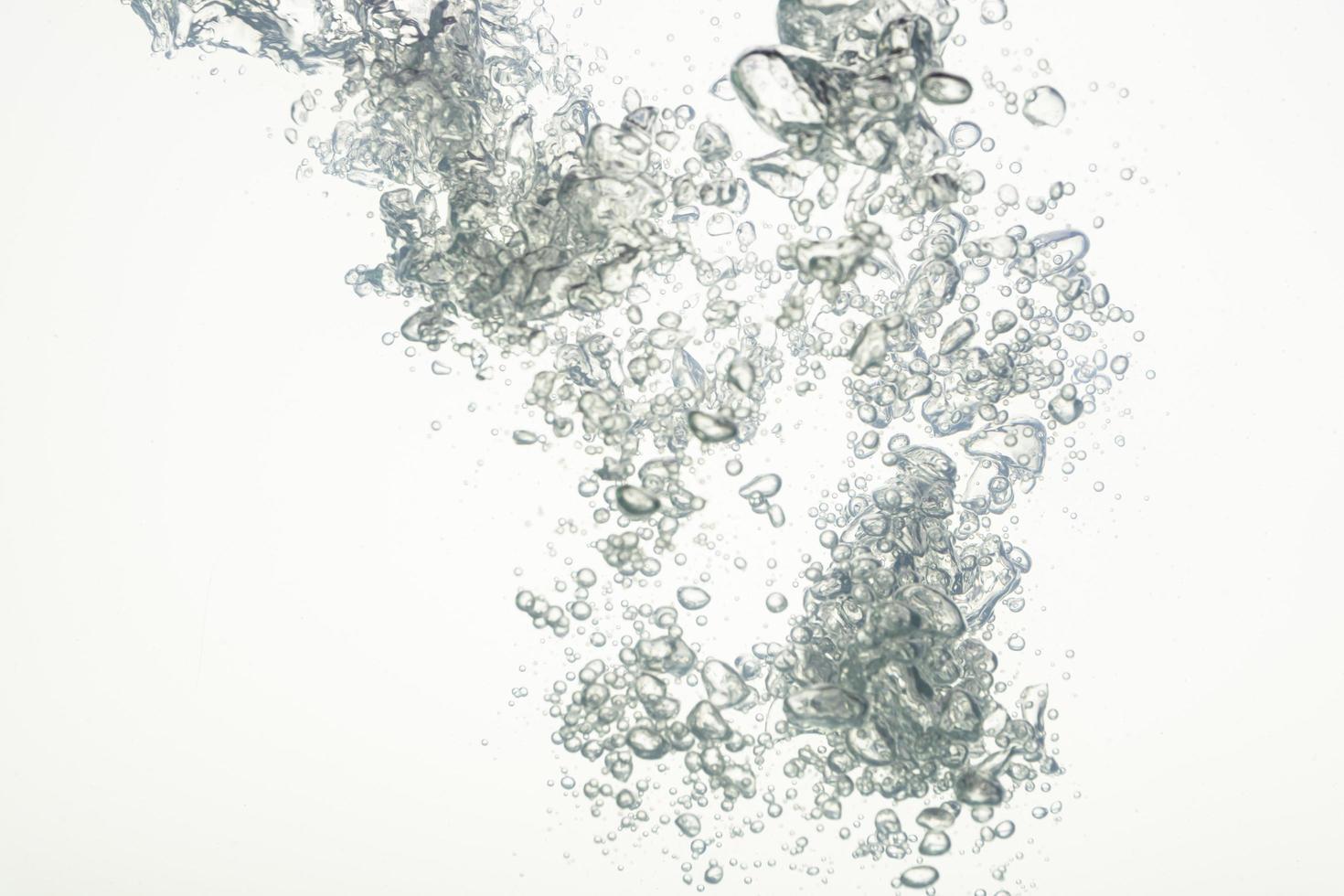 bulles dans l'eau photo