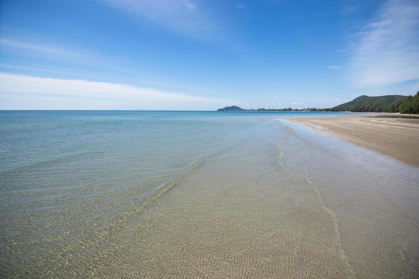 vue mer depuis la plage photo