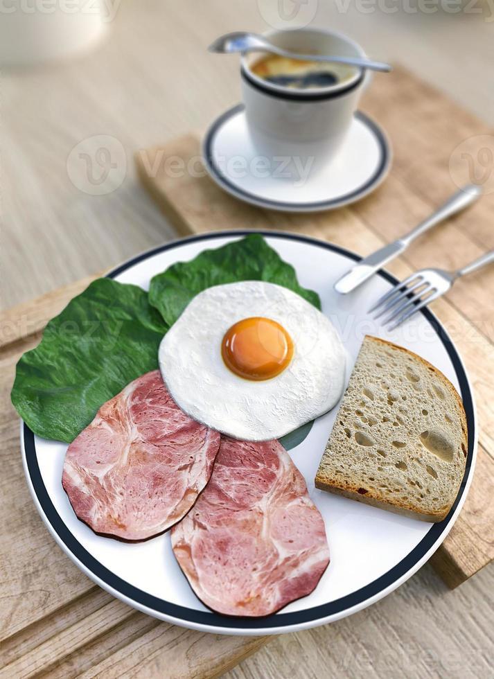 petit déjeuner et café. photo