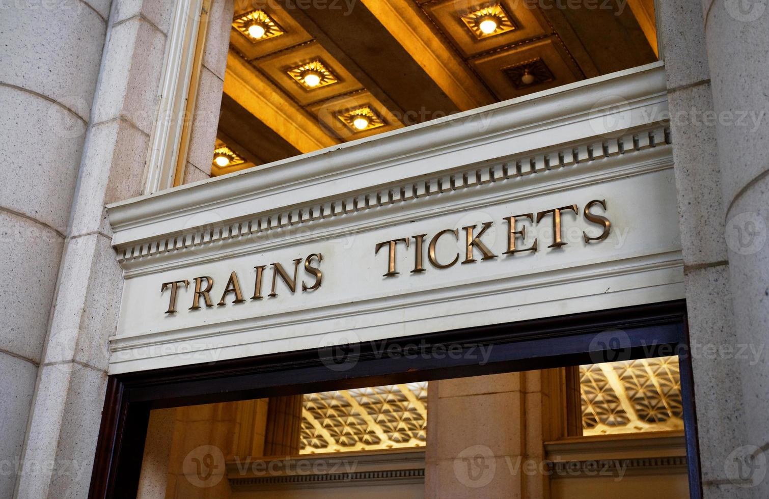 trains et billets photo