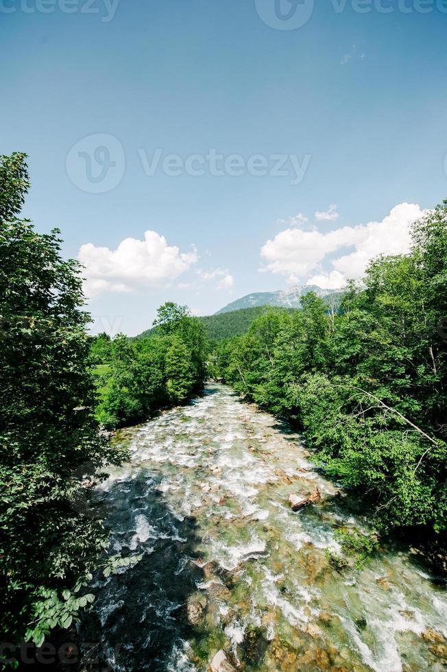 rivière de montagne schrainbach schonau am konigsee photo