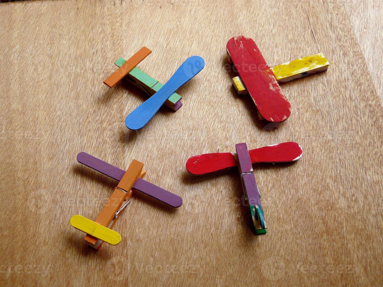 jouet d'avion de bricolage photo