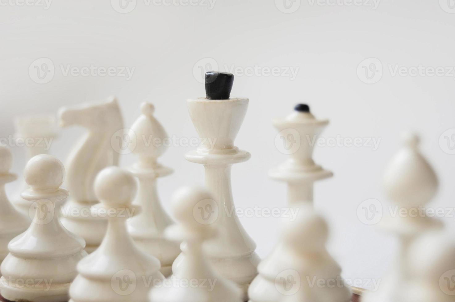 échecs blancs photo